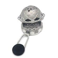 Silver Lotus II - Lotus 2 Model-Hookah Embers Cezvesi Gray Lotus Charcoal Holder Hookah Accessories