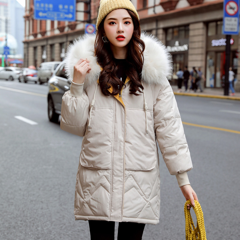 Winter Jacket Women Parka Coats Female Long Sleeve Thick Warm Faux Fur Hooded Snow Wear Jacket Coat Mujer Quilted Tops