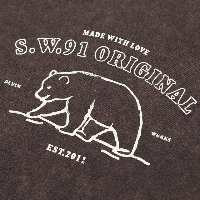 Vintage t-shirt with outline bear print