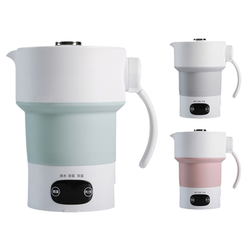 Foldable Electric Kettle 600ML Silicone Kettle Boiling Water Heater Portable for Tea Coffee Hot Drinking Travel car electric kettle 304 stainless steel abs insulation anti scald car travel coffee pot tea heater boiling water