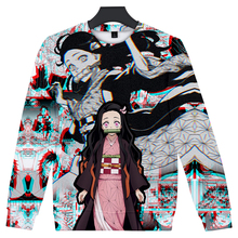 Girls Hoodies Cosplay Sweatshirt Mochila 3d-Print Boys Kimetsu Demon Slayer 2T-16T O-Neck