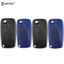 KEYYOU – coque de clé télécommande à 2/3 boutons, pour FIAT Iveco Punto Ducato Stilo Panda Idea Doblo Bravo Fob