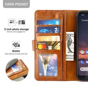 Image 3 - Для Nokia 7,2 чехол из матовой кожи защитный флип чехол с подставкой противоударный защитный чехол для Nokia 7,2 чехол с отделением для карт