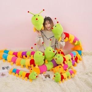 Очень большие милые красочные гусеницы, подушки, мягкие игрушки, детские куклы, мягкие и милые, хорошего качества, бесплатная доставка