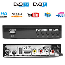 DVB-T2 DVB-C 2 in 1 HD TV Tuner Fully 1080P Digital Receiver WIFI Free TV Box Youtube M3U AC3 Terrestrial Decoder For Russia