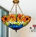 Europäische Garten Tiffany Anhänger Mittelmeer Farbe Beleuchtung Wohnzimmer/Schlafzimmer/Studie Lampen Pt043b 20 Bett lampen-in Pendelleuchten aus Licht & Beleuchtung bei
