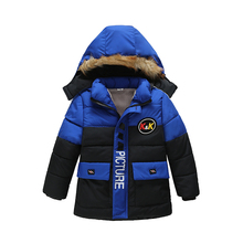 Baby Boys Jacket 2020 Autumn Winter Jacket For Boys Kids Hooded Warm Outerwear Coat For Boy Clothes Children Jacket 2 3 4 5 Year cheap Fashion Polyester Cotton Cartoon Regular Outerwear Coats Full Fits true to size take your normal size Heavyweight Worsted