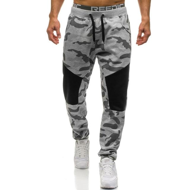 Camouflage Long Pants Men Casual Trousers Mens Loose Sport Pants Streetwear Spliced Drawstring Sweatpants Trousers Joggers Male 25
