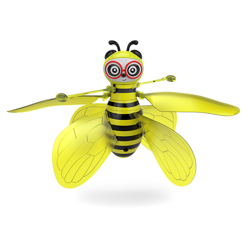 Mini Drone RC Animal RC Bee Induction Aircraft New Infrared Sensing Hand Sensor Portable Led Light Rc Helicopter  Aircrafts Toy