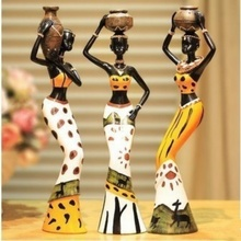 Environmentally friendly exotic African women dance resin crafts creative home decoration three-piece pendant