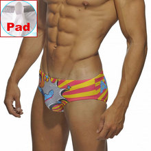 Men Pad Swimwear Swimming Briefs Superman Swimsuit Mens Sexy Summer Beach Short
