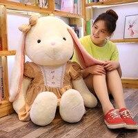 Cute Lop Plush Toys Bunny Doll Elsa Dress Pajama Pillow Doll Birthday Gift