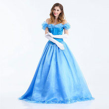 Anime Dress Blue Stage Performance Costume Halloween Cosplay Cinderella Role Play Holy Angel Festival Party Perfor