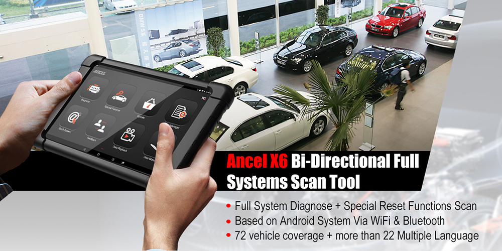H7d68e7b467b844e3b1d3872d2f17306aN Ancel X6 OBD2 Scanner Bluetooth Scan ABS Airbag Oil EPB DPF Reset OBD 2 Automotive Scanner Code Reader Auto Car Diagnostic Tool