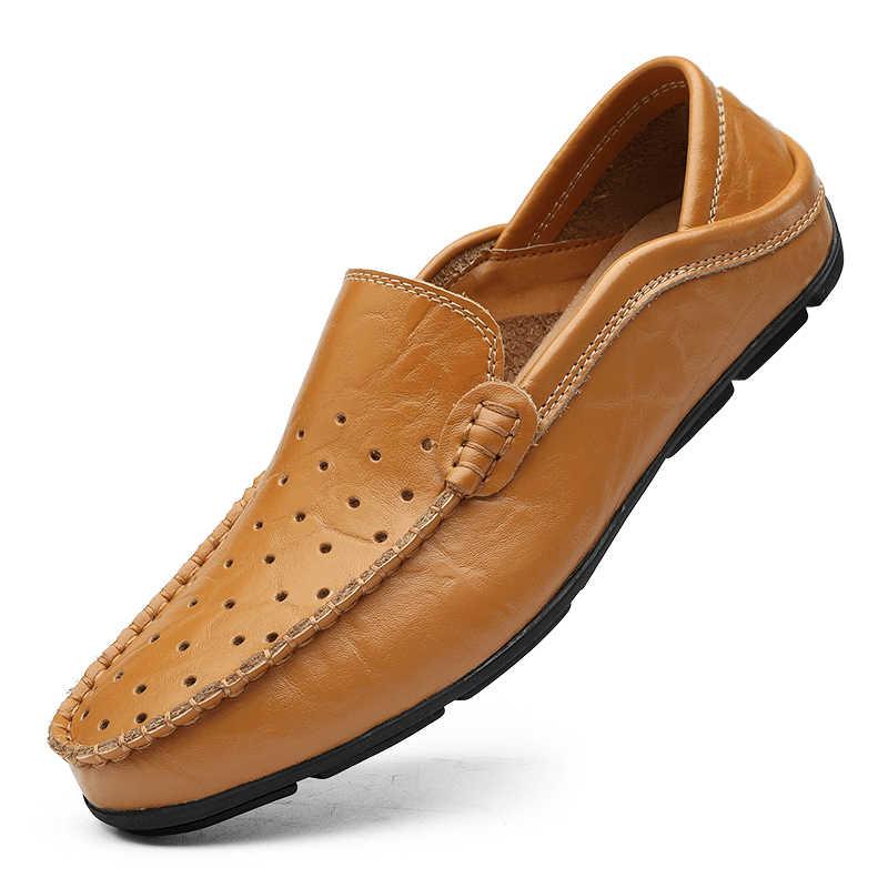 Casual Mannen Loafers Schoenen Zomer Holle Lederen Mocassins Sneakers Mannelijke Zachte Slip-On Schoenen Chaussure Homme Mannen Flats Schoenen 38-47 #
