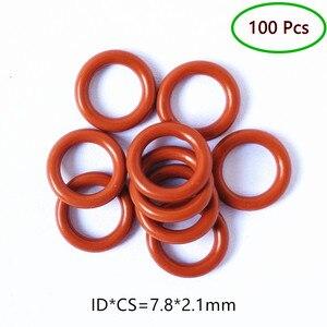 100pcs Fuel Injector Rubber Oring Seals 7.8*2.1*12mm For Mazda Toyota Mitsubishi Car Accessories Repair Rebuild Kits(AY-O2050)