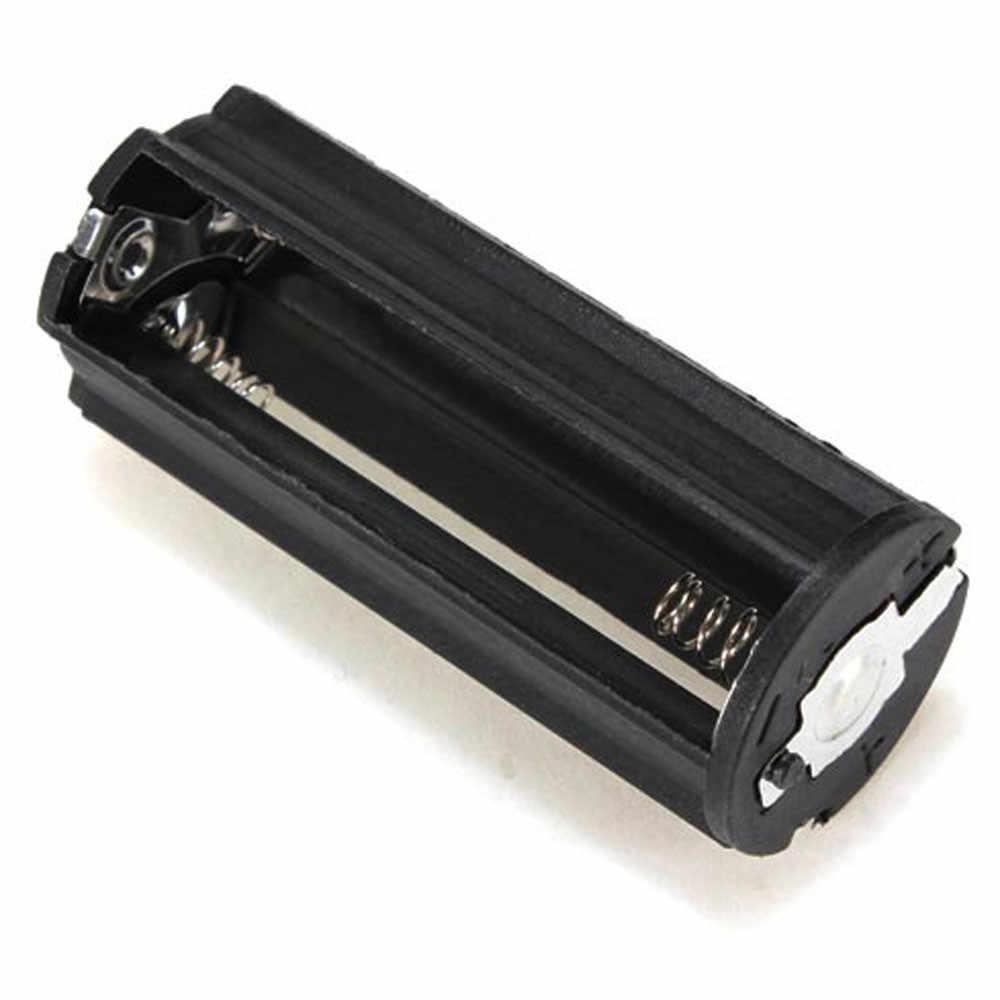 OMESHIN Simplestone noir cylindrique 3 AAA support de batterie en plastique adaptateur boîte lampe de poche lampe