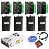 Cnc Router 3 4 Axis Kit 3A 3N.M Nema 23 425 Oz-In Stappenmotor 57HS112 TB6600 Driver + 350W Voeding MACH3 Controller Card