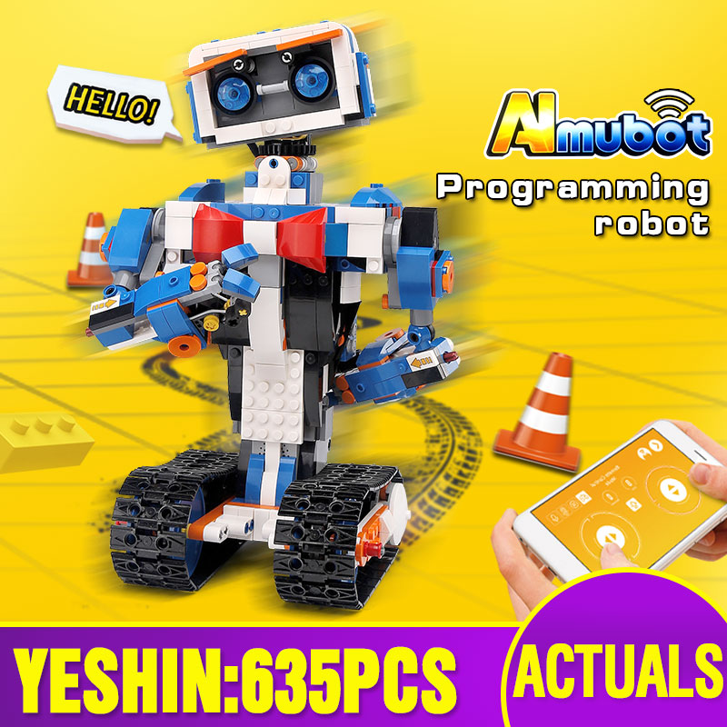 Technic Toys App Control Robot Compatible With Legoing 17101 Boots Creative Toolbox Set Assembly Programming Kid Building Blocks