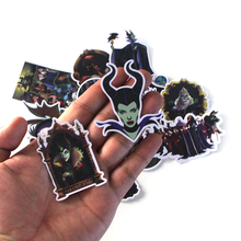 CA50 17 Pcs/set Maleficent DIY Skateboard Graffiti Laptop Badge Motorcycle Luggage Bags Accessories