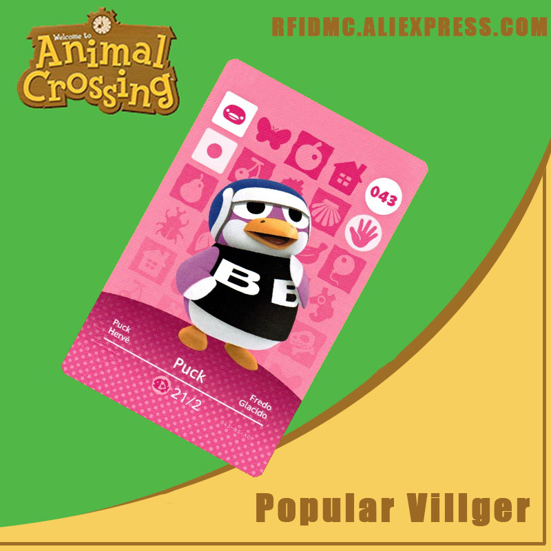 043 Puck Animal Crossing Card Amiibo For New Horizons
