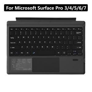 Для Microsoft Surface Pro 3/4/5/6/7 планшет Беспроводная Bluetooth 3,0 планшет клавиатура ПК ноутбук игровая клавиатура