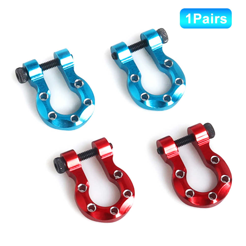 2Pcs Red Tow Hooks RC Truck Parts for RC 1:10 1:8 1:18 Car