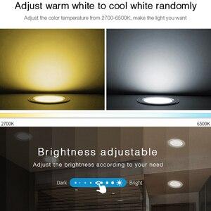 Image 3 - 18W RGB + CCT HA CONDOTTO LA luce Da Incasso dimmerabile intelligente vita Interna camera luce AC 220V può del telefono Mobile/2.4G remote/wifi/controllo vocale