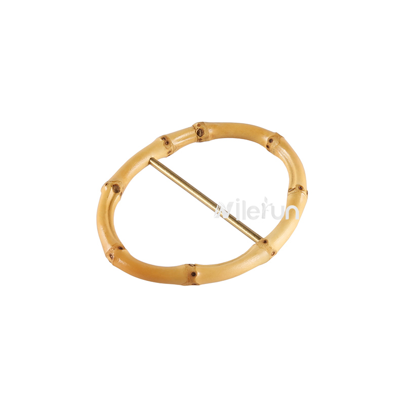 Fashion Clothing Bags Belt Accessories Geometric Oval Shape Bamboo Root Belt Buckle
