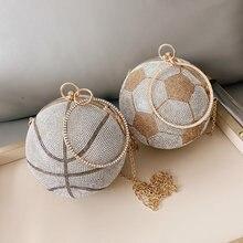Роскошные бриллиантовые баскетбольные сумки клатчи для женщин