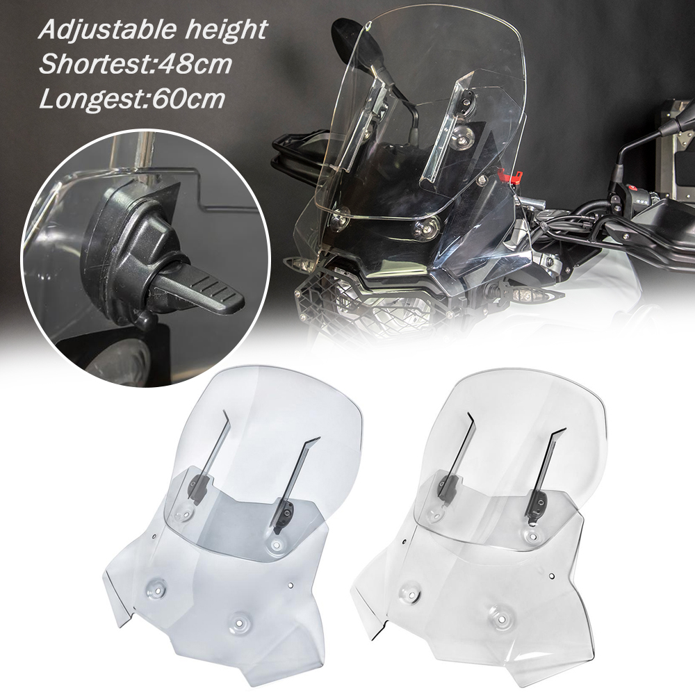 For BMW F750GS F850GS 2018 2019 2020 Motorcycle Windshield Extension Bracket Adjustable Clip On Spoiler Windscreen Air Deflector