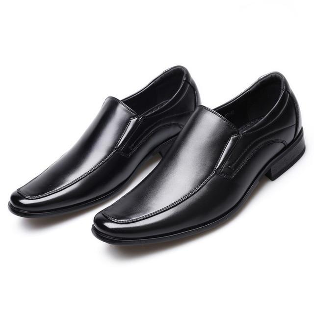أحذية رجال الأعمال الكلاسيكية موضة أنيقة أحذية الزفاف الرسمية الرجال الانزلاق على مكتب أكسفورد أحذية للرجال LH100006