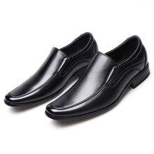 Klasyczne biznesowe męskie buty sukienka moda eleganckie eleganckie buty na ślub mężczyźni Slip On Office buty Oxford dla mężczyzn LH100006