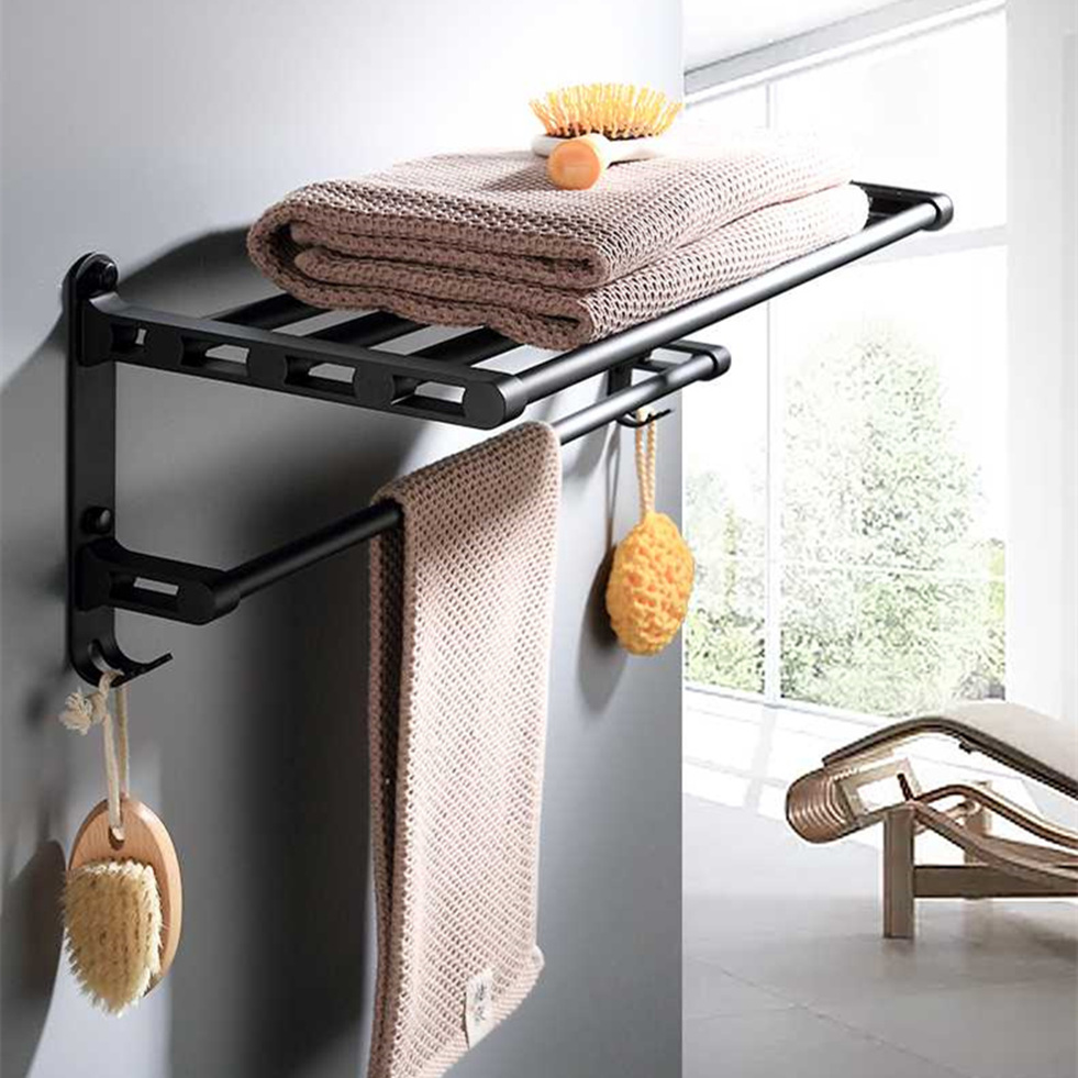 Embossed Brass Pedestal Single Rod Bathroom Towel Rack Towel Rail Towel Bar for Home Hotel
