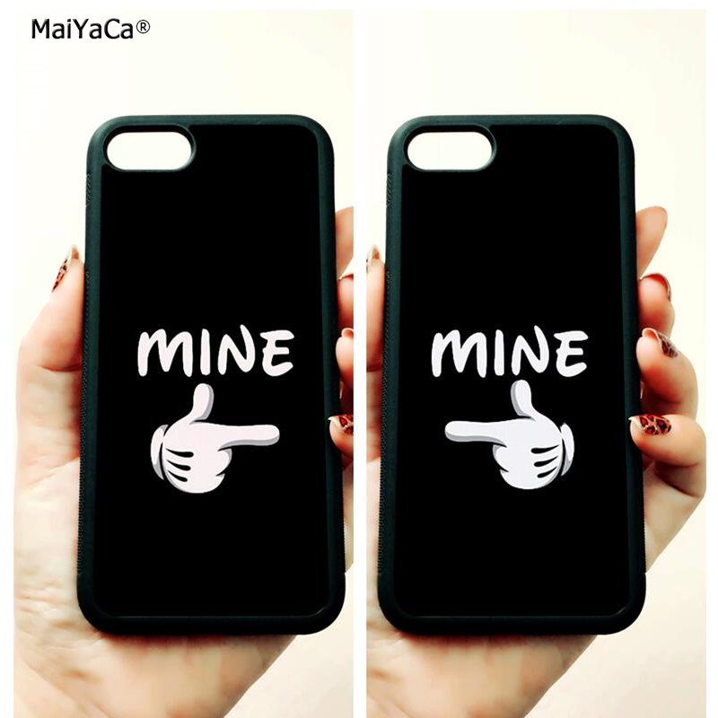 BFF love couple she he is mine soft edge mobile phone cases for apple iPhone x 5s SE 6 6s plus 7 7plus 8 8plus XR XS MAX case