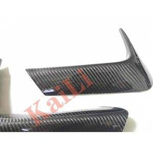 Image 4 - 1Pair Car Rear Bumper Lip Splitter Diffuser Lower Corner Cover Trim Spoiler For BMW F80 M3 F82 F83 M4 2015 2018 Real Carbon
