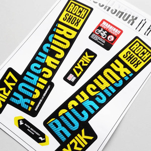 Image 2 - 2018 rockshox LYRIK mountain bike front fork stickers bicycle front fork decals Bicycle Accessories