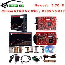 Он-лайн 2,70 ЕС красный KESS V5.017 без маркер KTAG V7.020 2,25 K-бирка 4 светодиодный рамка фонового режима отладки Kess 5,017 OBD2 менеджер Тюнинг Комплект прогр...