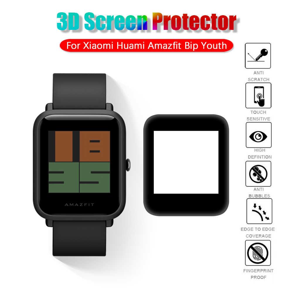 Weichen Bildschirm Protector Schutz Film Für Xiaomi Huami Amazfit Bip Jugend Smart Uhr 3D Gebogene Oberfläche Volles Rand Fibre Glas film