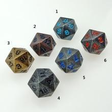 Rollooo односторонние металлические кубики 20 сторонних D20