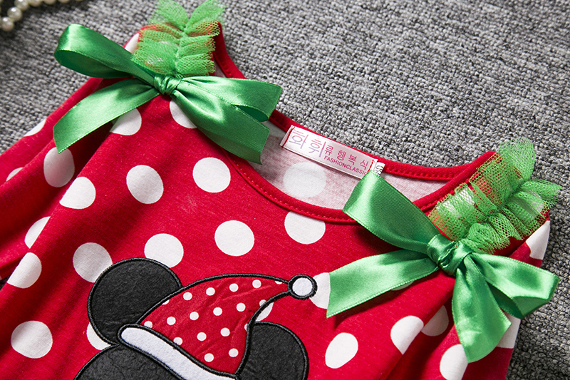 H7d6a51b5edad4f749dec49508f5f0922g 2-6T Santa Claus Christmas Dress Kids Party New Year Costume Winter Snowman Baby Girl Clothes Christmas Tree Children Clothing