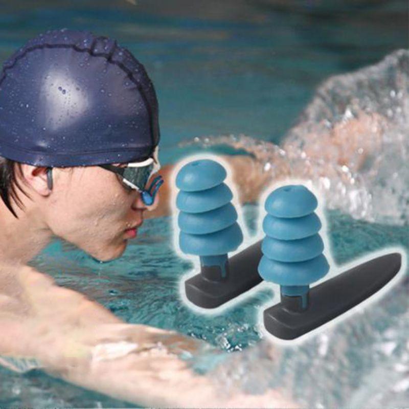 Мягкие силиконовые беруши для плавания, удобные водонепроницаемые Многоразовые наушники с шумоподавлением и защитой слуха, чехол для хран...