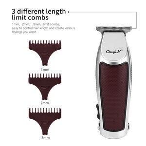 Image 3 - USB מקצועי שיער גוזז חשמלי שיער גוזם אלחוטי שיער מכונת חיתוך גברים זקן גוזם מכונת גילוח תספורת קליפר