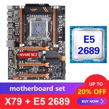 Kllisre X79 motherboard set with Xeon E5 2689 LGA 2011 support DDR3 ECC REG memory ATX USB3.0 SATA3 PCI E NVME M.2 SSD