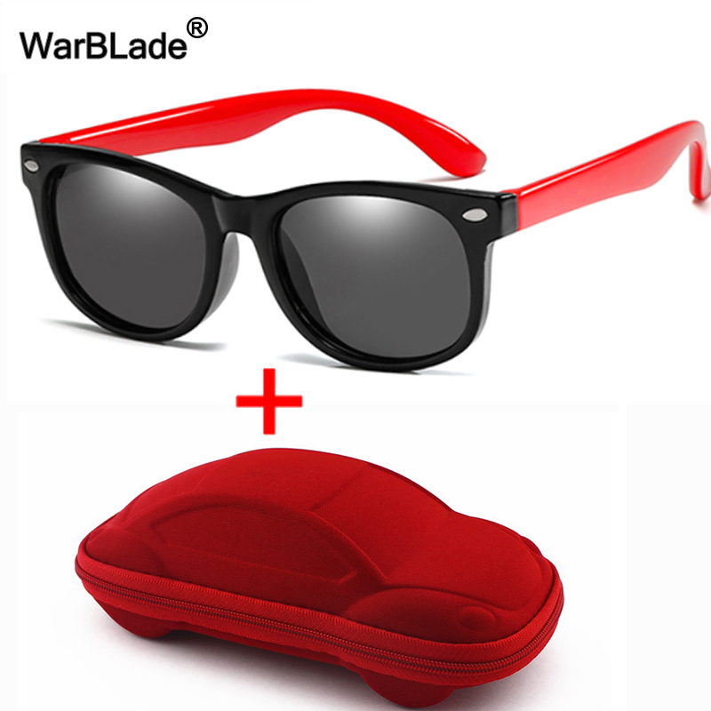 Kids Sunglasses With Case Boys Girls Polarized Silicone Safety Sun Glasses UV400