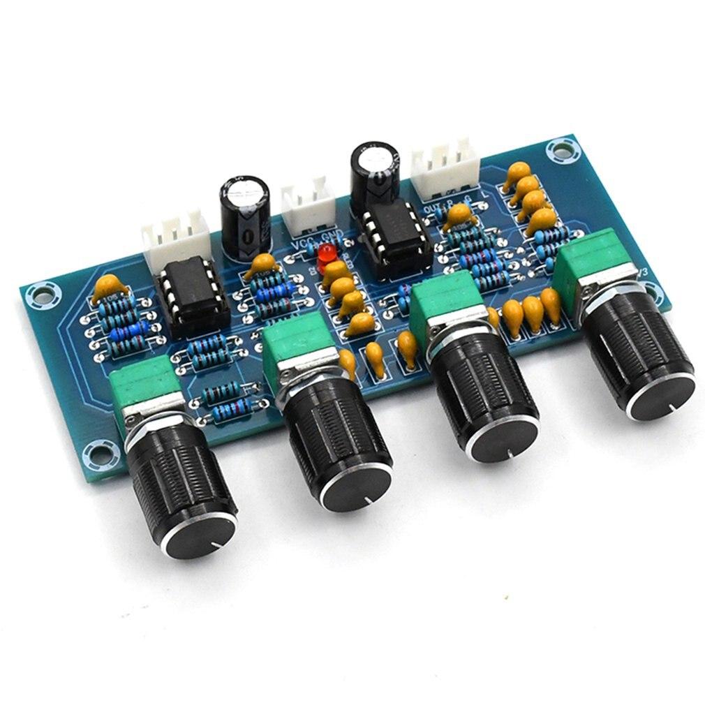 XH-A901 NE5532 Tone плата предусилителя Pre-amp с регулировкой громкости высоких басов, предусилитель, регулятор тона для платы усилителя