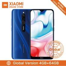 Смартфон Xiaomi Redmi 8 с глобальной версией, 4 ГБ, 64 ГБ, Восьмиядерный процессор Snapdragon 439, 5000 мАч, 6,22 дюйма, 12 Мп+ 2 МП, 18 Вт, быстрая зарядка, мобильный телефон