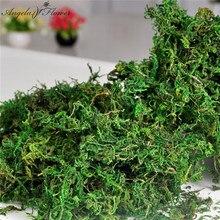 100g/tasche Halten dry real grün moss dekorative pflanzen vase künstliche rasen seide Blume zubehör für blumentopf dekoration