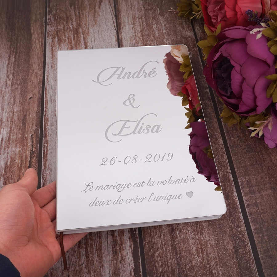 26 centimetri X 19 centimetri Delicato Personalizzato Firma di Nozze Libro Degli Ospiti Personalizzato Bianco in Bianco Copriletto Check-in Libri Del Partito Decor forniture
