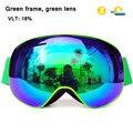 Магнитные очки для катания на лыжах и сноуборде  с защитой UV400  для мужчин и женщин  с защитой от снега